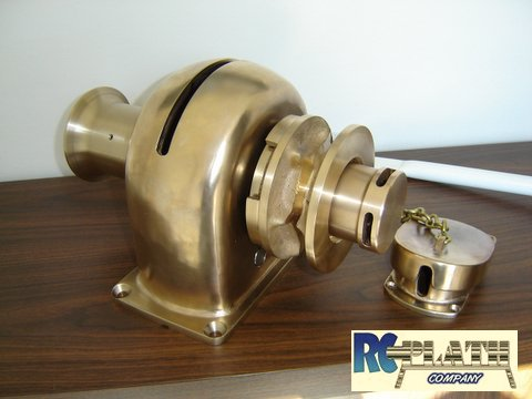 Polished Bronze, Hand-Operated. The Most Popular Plath Windlass for Sailboats.